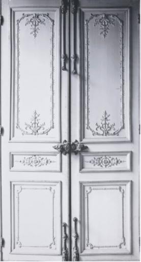 Porte trompe-l'œil MMM – Ligne 13, 2010 Éditeur : Maison Martin Margiela, intissé, impression numérique © Les Arts Décoratifs, Paris / photo : Jean Tholance, Musée des arts décoratifs, Paris, 2016