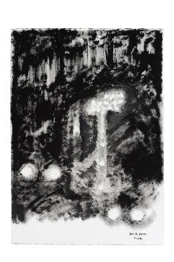 CHRISTOPH VON WEYHE 20.08.2014, 2014 Gouache sur carton de papier arches 75 x 105 cm Courtesy galerie Eric Dupont
