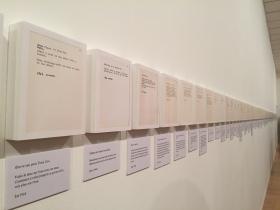 """Vue de l'exposition """"Yoko Ono, Lumière de l'aube"""" au MAC de Lyon, 2016. Courtesy MAC Lyon."""