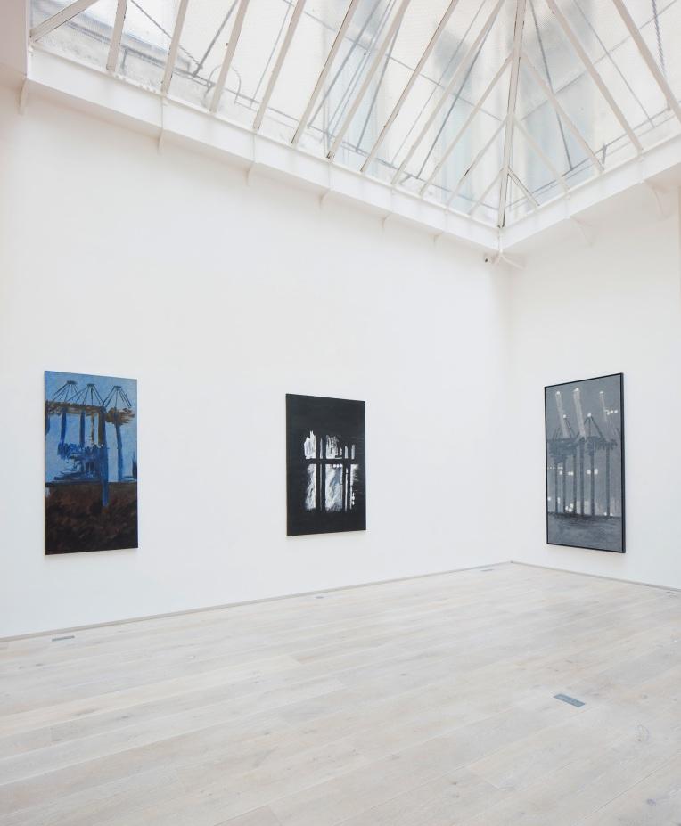 """""""Christoph von Weyhe, Peintures"""" Vue d'exposition à la galerie Eric Dupont 21 mai-21 juillet 2016 Courtesy galerie Eric Dupont"""