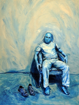 Alexa Meade, Blue Print, 2010. Courtesy Alexa Meade et H-Gallery.