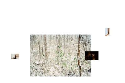 Anni Leppälä, vue de l'installation, 2016 avec 'Photographe I ( winter background), 2016, 'First Snow', 2004, 'In the attic', 2014, 'Frame (corner), 2016. Courtesy Galerie les filles du calvaire