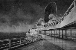 "Hans Op de Beeck, Night Time (extended), 2015. Film d'animation, 19'20"", noir et blanc, son, vidéo Full H. © Studio Hans Op de Beeck, Courtesy Galleria Continua, San Gimignano / Beijing / Les Moulins / Habana."