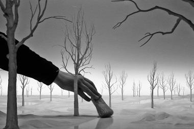 """Hans Op de Beeck - Staging Silence (2), Vidéo, 20'48"""", 2013. Noir et Blanc, sonore, vidéo Full HD transférée sur Blu-Ray Disc. courtesy Galleria Continua"""