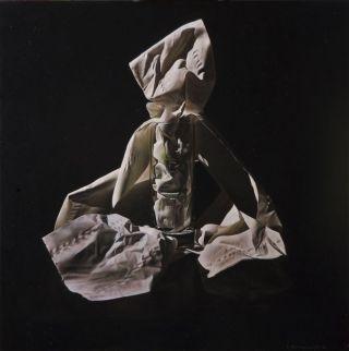 Emanuele Dascanio, La prostituta, olio su tavola, 40x40 cm, 2010. Courtesy de l'artiste.