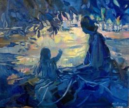 Carole Melmoux, Ave maris stella, huile sur toile, 65x54, 2017. Courtesy de l'artiste.