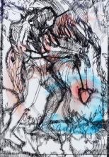 Carole Melmoux, La sourcière, gravure pointe sèche, 22x30. Courtesy de l'artiste.