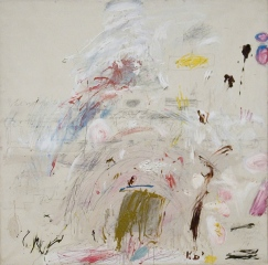 Cy Twombly, School of Athens, 1961, huile, peinture industrielle, crayon de couleur et mine de plomb sur toile, 190,3 x 200,5 cm, collection particulière, Courtesy Centre Pompidou