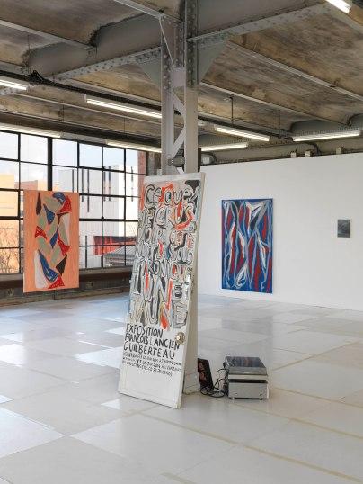 De gauche à droite : Corentin Canesson, Sans titre, 2016 ; François Lancien-Guilberteau et Corentin Canesson, Porte Palière, 2013 ; Corentin Canesson, Sans titre, 2016 ; Jean-Pierre Bescond, Sans titre, 2011. © André Morin / le Crédac.