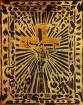 Crucifix d'anonyme pour une table de jeu, 50x30cm