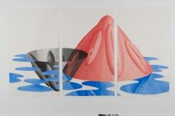 Sans titre, 2016, aquarelle sur papier, (c) VG Bild-Kunst, Bonn