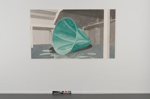 Gussform, (Moule), 2016, aquarelle sur papier, 54 x 74 cm, 2016 (c) VG Bild-Kunst, Bonn