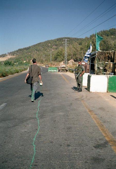 Francis Alÿs, The Green Line, 2004