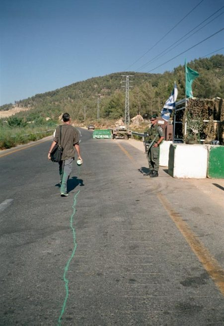 Francis Alÿs, The Green Line, 2004