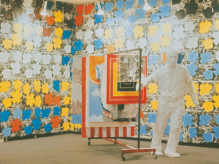 Sturtevant, Vue d'exposition à la Bianchini Gallery, New York, 1965.