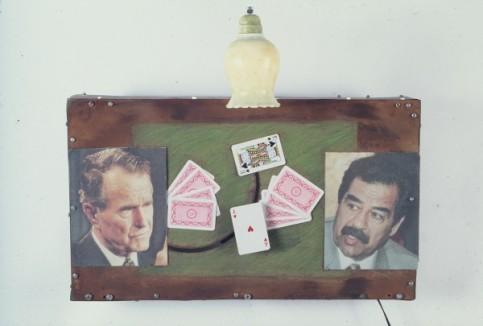 Partie de cartes, Peyre, 1991 © Burnier