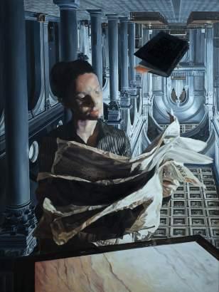 SABLIER, Upside Down, 201 huile sur toile, 200x150 cm-min