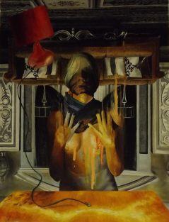 Upside down, 2017, huile sur toile, 40 x 52 cm