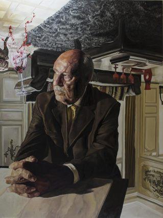 Upside down, 2017, huile sur toile, 200 x 150 cm