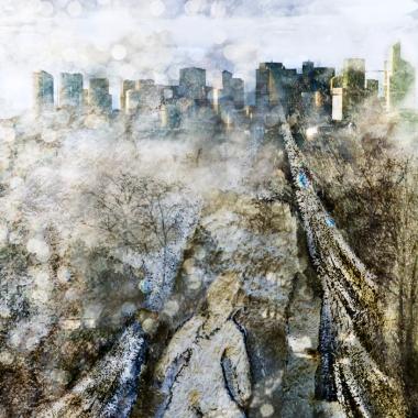 Neige sur Paris, 2013, © Hélène Hubert