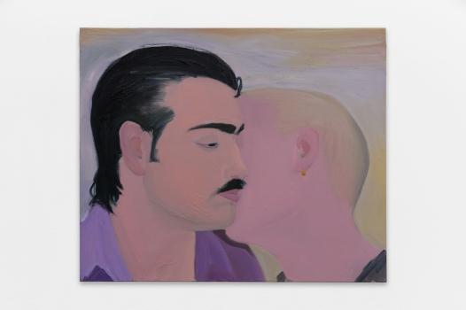 Xinyi Cheng, Tango Class, 2017, huile sur toile, 50 x 60 x 4,5 cm. Galerie Balice Hertling, Paris.