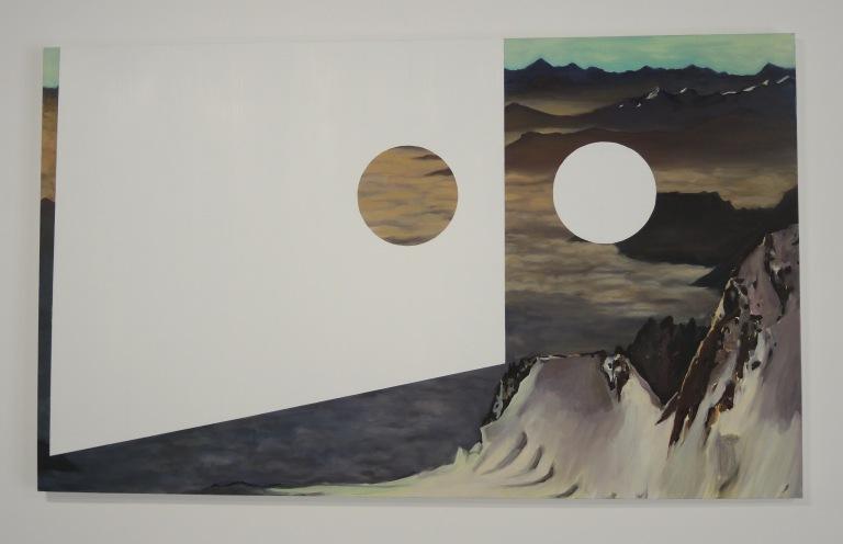 Caroline de Chiara, La mer de nuages, 2017, Huile sur toile, 162 x 97 cm, Co-production La Graineterie, Houilles