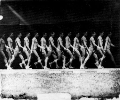 Etienne Jules Marey, Un homme qui marche, 1983, chronophotographie