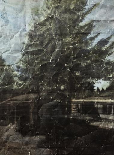 Eva Nielsen, Aphakie II, 2017, encre, acrylique et sérigraphie sur toile, 190x140cm, Courtesy galerie Jousse Entreprise, Paris