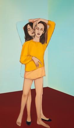 Apolonia Sokol, HECATE, 2016. Huile sur toile. 195 × 114 cm - Courtesy de l'artiste