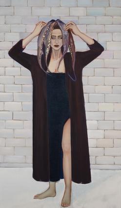Apolonia Sokol, MEDEE, 2016 . Huile sur toile. 195 × 114 cm - Courtesy de l'artiste