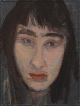 Apolonia Sokol, MOI SANS MASQUE, 2015. Huile sur toile. 18 x 24 cm - Courtesy de l'artiste