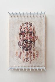 Autoportrait, Chris Dorosz, acrylique, nylon, bois, toile, courtesy de l'artiste