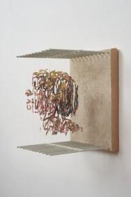 Untitled, Chris Dorosz, acrylique, nylon, bois, toile, courtesy de l'artiste
