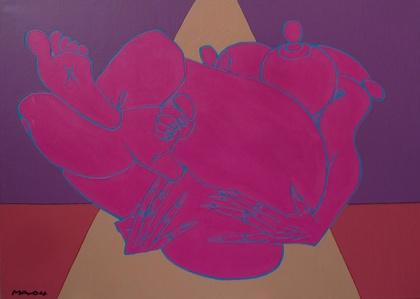 Série Corps de Femme, acrylique sur toile, 162 x 114 cm, 2004 (c) A2z gallery, Paris