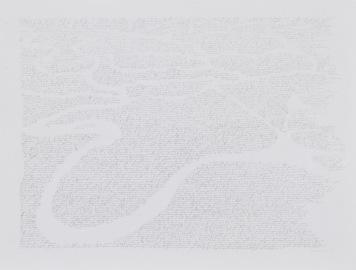"""Alain Huck, """"Darkness of Heart 5°58'S 12°34'E (1)"""", graphite sur papier, 125x95 cm, 2017-2018. Courtesy Galerie C."""