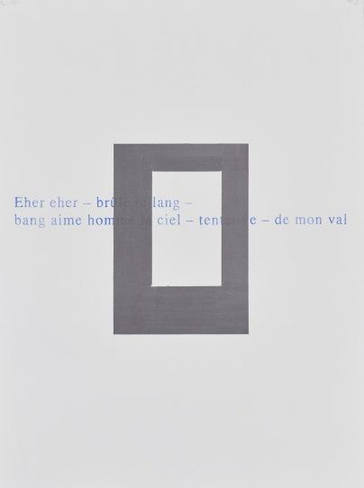 """Alain Huck, """"Hommage à Marina Tsvetaeva (série 2)"""", stylo à bille et graphite sur papier, 57x77 cm, 2018. Courtesy Galerie C."""