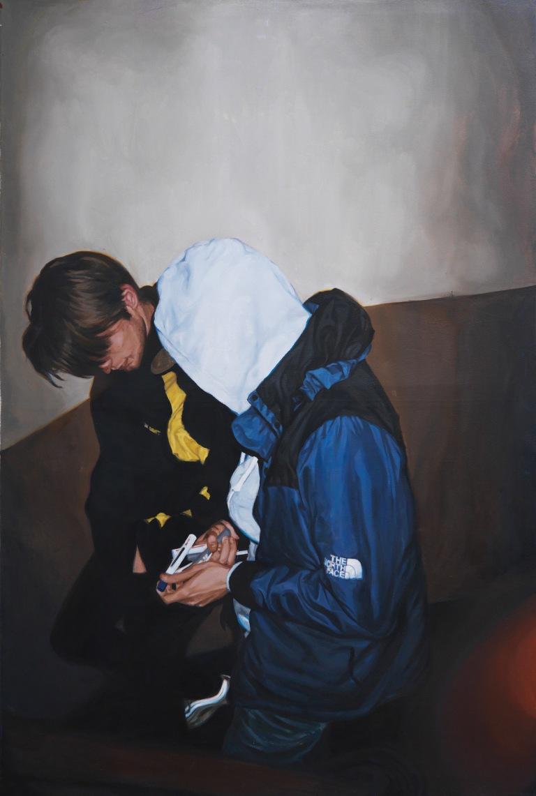 19.06, huile sur toile, 150x100 cm, 2017 © GALERIE CHLOE SALGADO et Julian Simon