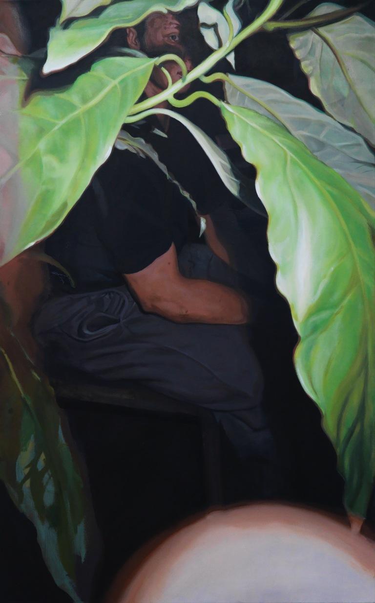 Malik, huile sur toile, 160x100cm, 2018 © GALERIE CHLOE SALGADO et Julian Simon