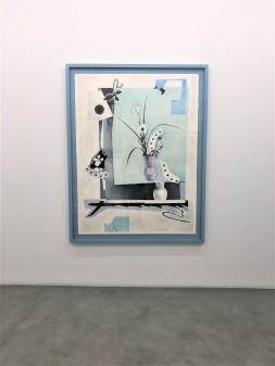 Hippolyte Hentgen, Série Ikebana, 2018, 120 x 160 cm, crayons de couleur, galerie Semiose ; photo : AL Peressin.