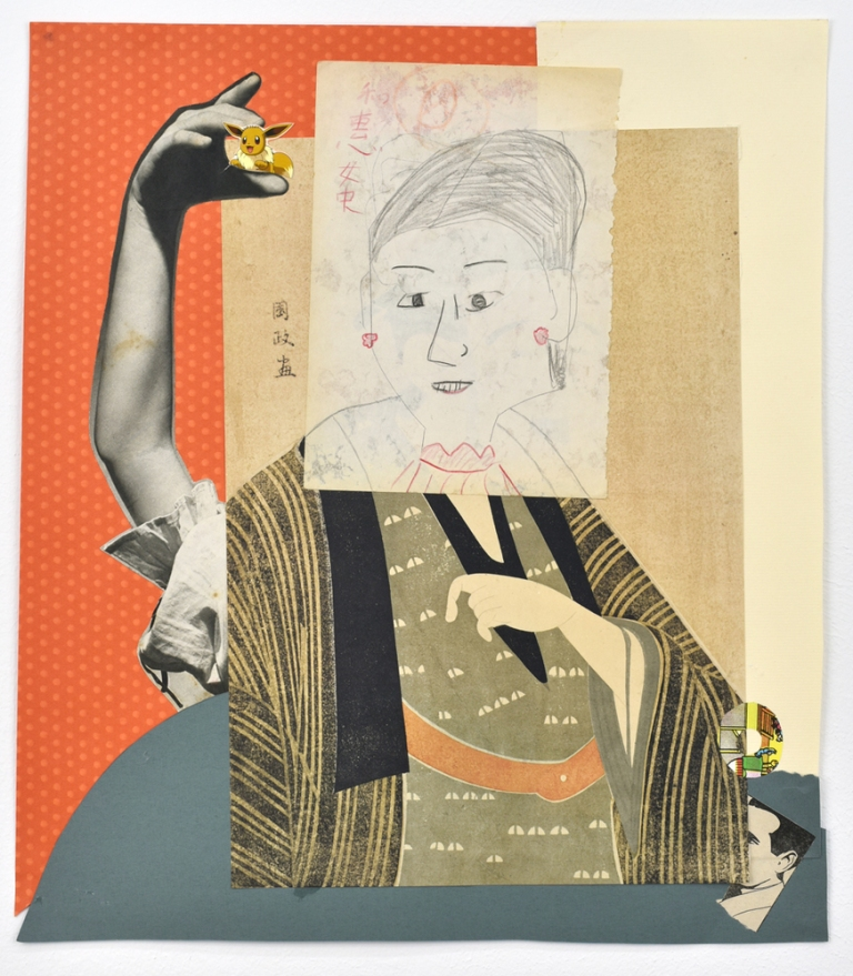 sanjo dori, 2018, collage sur papier, 44,5 x 39,5 cm , courtesy semiose, paris, photo de rebecca fanuele