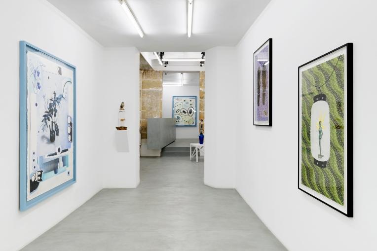 Vue de l'exposition Sunday in Tokyo de Hippolyte Hentgen à la galerie Semiose, Paris.