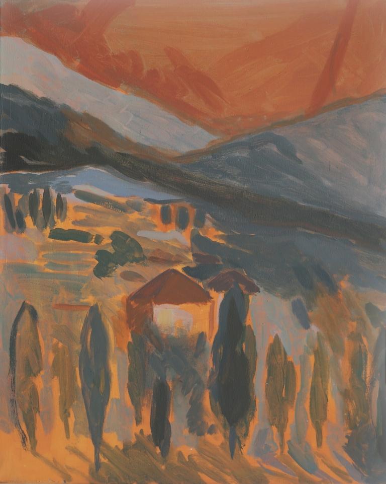 Christine Safa, Ehden, 2017, huile sur toile, 46x38cm. Courtesy de l'artiste