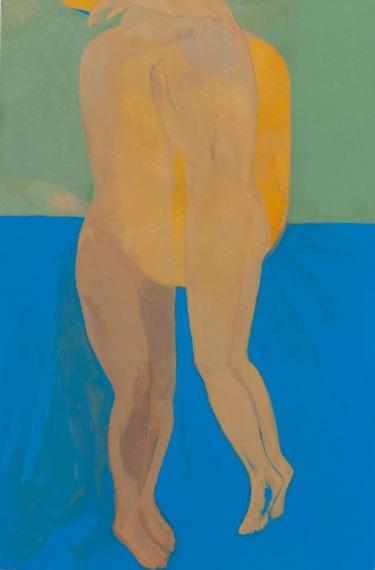 Christine Safa, L'Appel du soleil, 2018, huile sur toile, 146x97cm. Courtesy de l'artiste